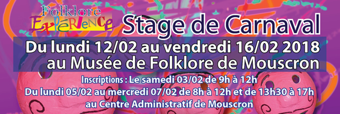 Stages carnaval 2018 banniere 1